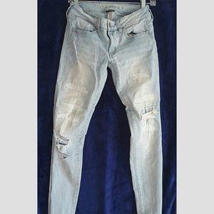 American Eagle super stretch x distressed jeans